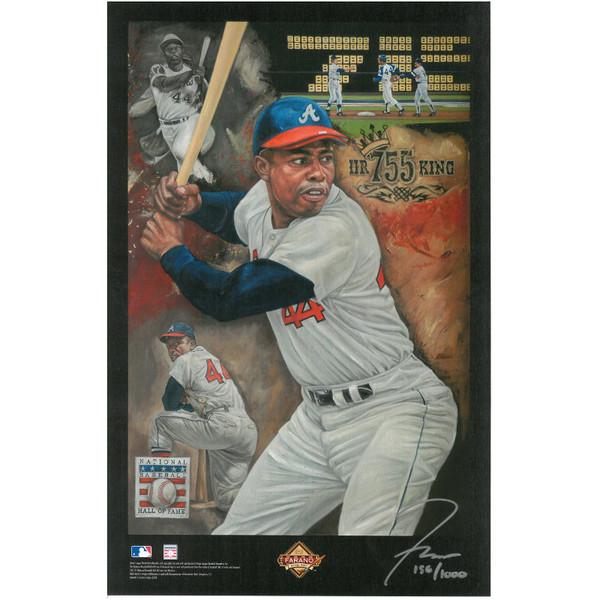Hank Aaron Atlanta Braves Baseball Hall of Fame 11 x 17 Limited Edition Lithograph