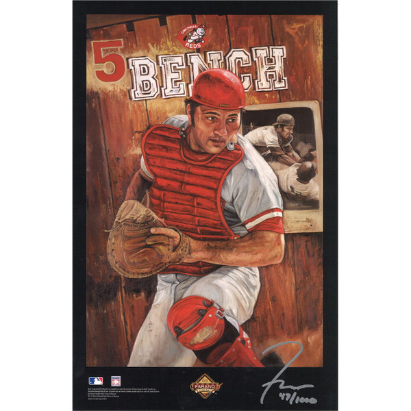 Johnny Bench Cincinnati Reds 11 x 17 Limited Edition Lithograph