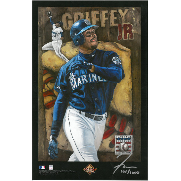 Ken Griffey Jr. Baseball Hall of Fame 11 x 17 Limited Edition Lithograph
