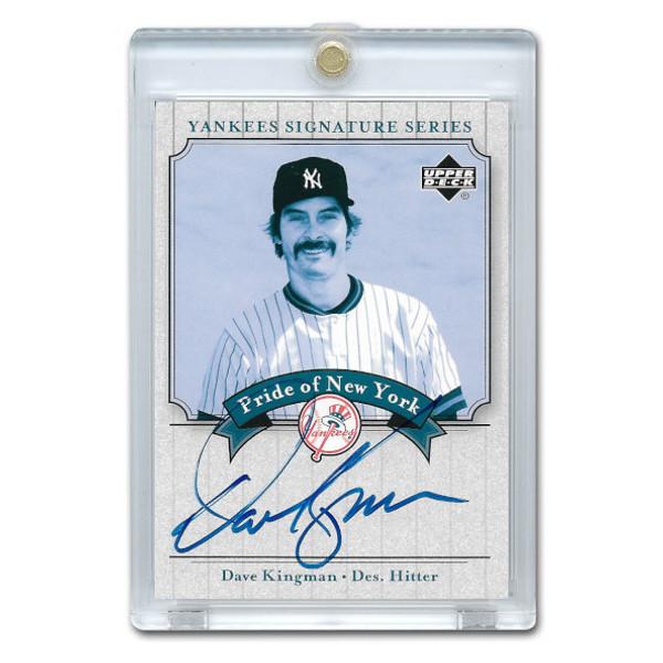 Dave Kingman Autographed Card 2003 Upper Deck Yankees Signature Series #PN-DK
