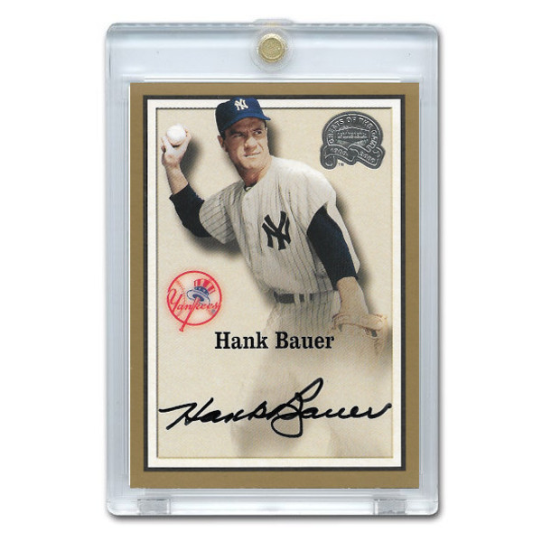 Hank Bauer Autographed Card 2000 Fleer Greats of the Game