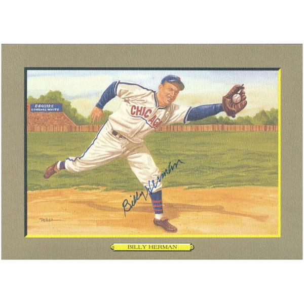 Billy Herman Autographed Perez-Steele Great Moments Jumbo Postcard # 41 (JSA-39)