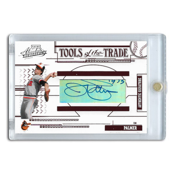 Jim Palmer Autographed Card 2005 Playoff Absolute Tools of the Trade Ltd Ed of 25