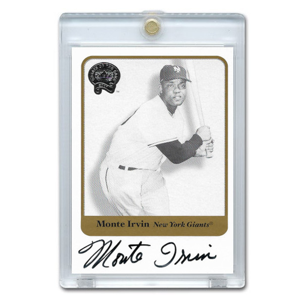 Monte Irvin Autographed Card 2001 Fleer Greats of the Game