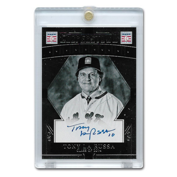 Tony La Russa Autographed Card 2015 Panini Cooperstown # 47