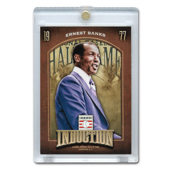 Ernie Banks 2013 Panini Cooperstown Induction Card # 6