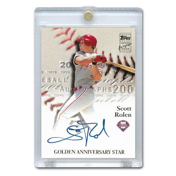 Scott Rolen Autographed Card 2001 Topps Golden Anniversary # GAA-SR