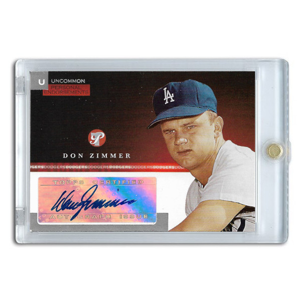 Don Zimmer Autographed Card 2005 Topps Pristine Personal Endorsements # DZ
