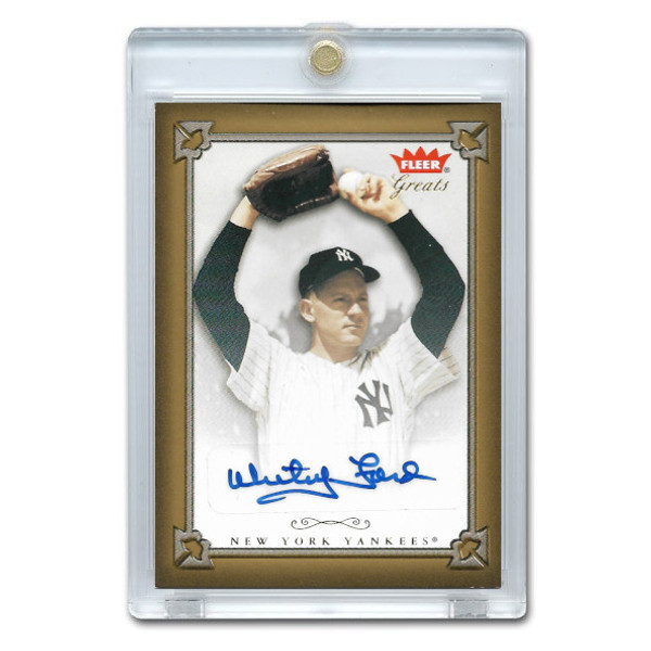 Whitey Ford Autographed Card 2004 Fleer Greats of the Game