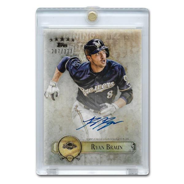 Ryan Braun Autographed Card 2013 Topps 5 Star Ltd Ed of 333