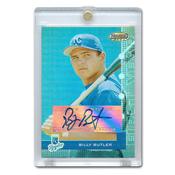 Billy Butler Autographed Card 2005 Bowman's Best Rookie Card # 103 Ltd Ed of 974
