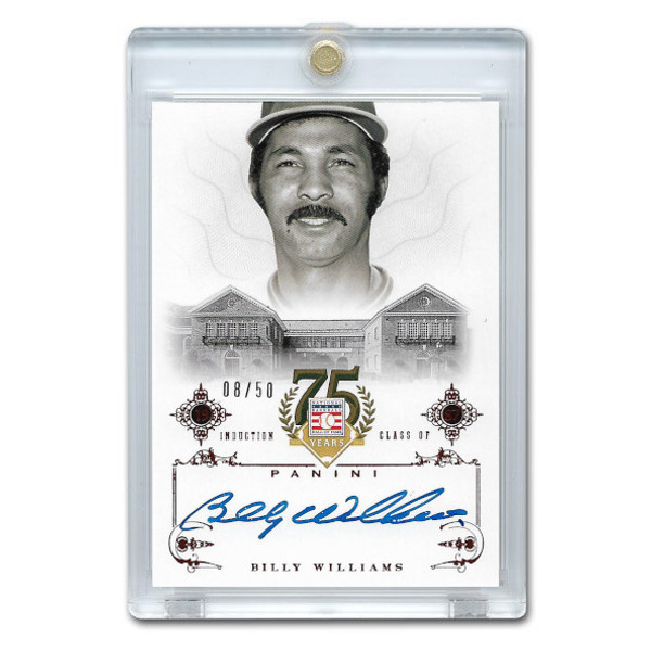Billy Williams Autographed Card 2014 Panini Cooperstown HOF 75th Anniversary Red # 74 Ltd Ed of 50