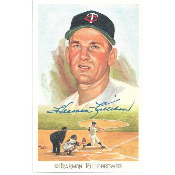 Harmon Killebrew Autographed Perez-Steele Celebration Series Postcard # 23 (SGC)