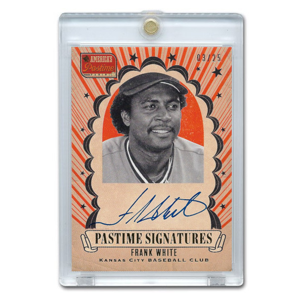 Frank White Autographed Card 2013 America's Pastime Signatures Ltd Ed of 25