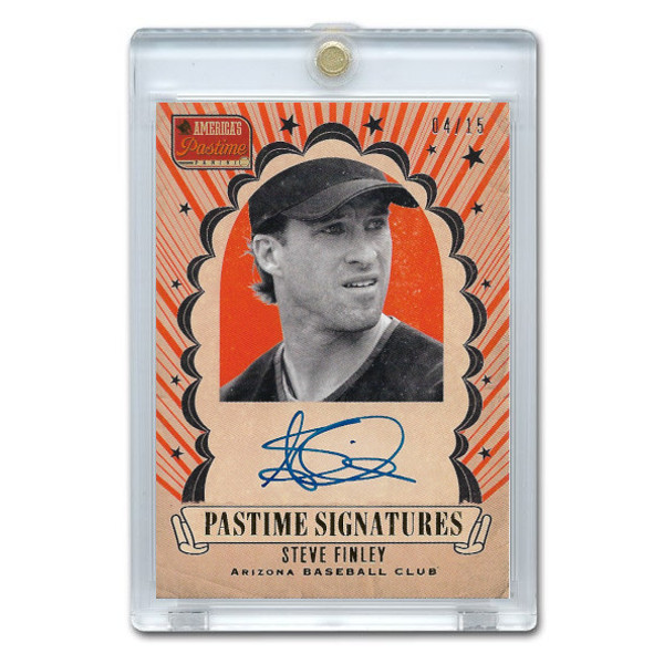 Steve Finley Autographed Card 2013 America's Pastime Signatures Ltd Ed of 15