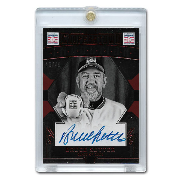 Bruce Sutter Autographed Card 2015 Panini Cooperstown Red # 8 Ltd Ed of 49