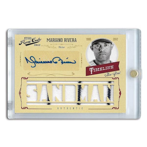 Mariano Rivera Autographed Card 2012 Panini Prime Cuts Timeline Sandman Ltd Ed of 10