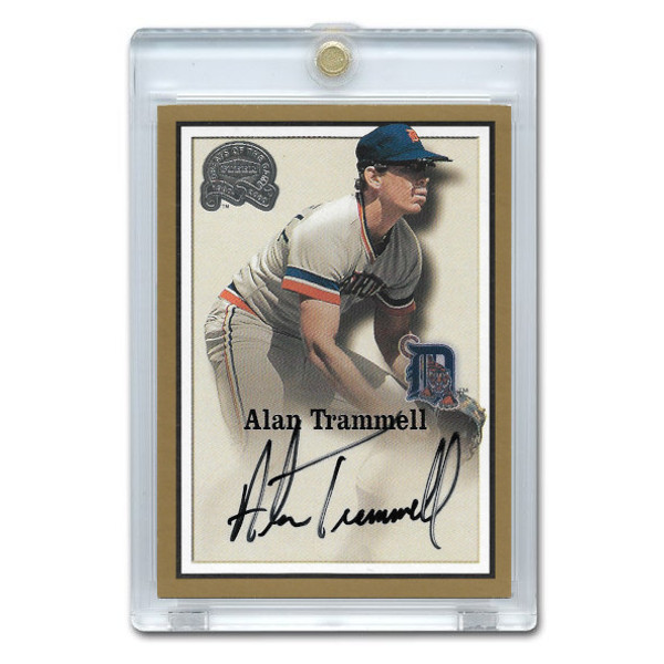 Alan Trammell Autographed Card 2000 Fleer Greats of the Game