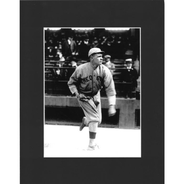 Matted 8x10 Photo- Babe Ruth Pitching