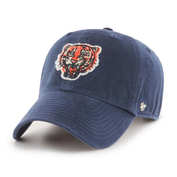 Men's '47 Brand Detroit Tigers Cooperstown McLean Clean-Up Adjustable Navy Cap