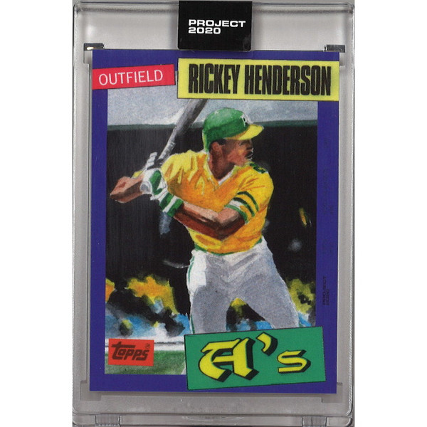 Rickey Henderson Topps Project 2020 # 123 - Jacob Rochester