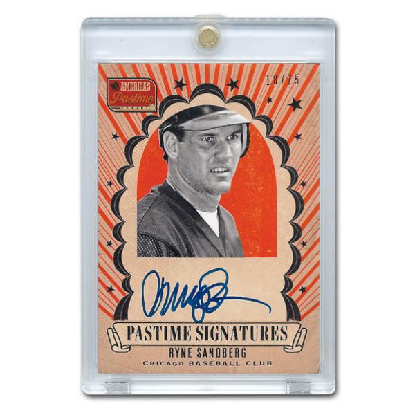 Ryne Sandberg Autographed Card 2013 America's Pastime Signatures Ltd Ed of 75