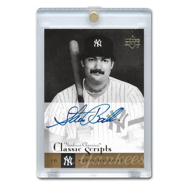 Steve Balboni Autographed Card 2004 Upper Deck Yankee Classics # AU-61