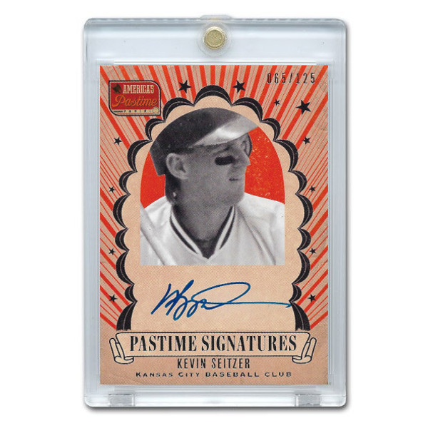 Kevin Seitzer Autographed Card 2013 America's Pastime Signatures Ltd Ed of 125