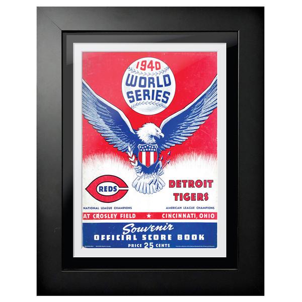 1940 World Series Program Cover 18 x 14 Framed Print # 2