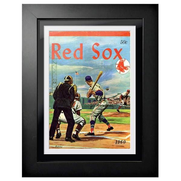 Boston Red Sox 1960 Yearbook Cover 18 x 14 Framed Print