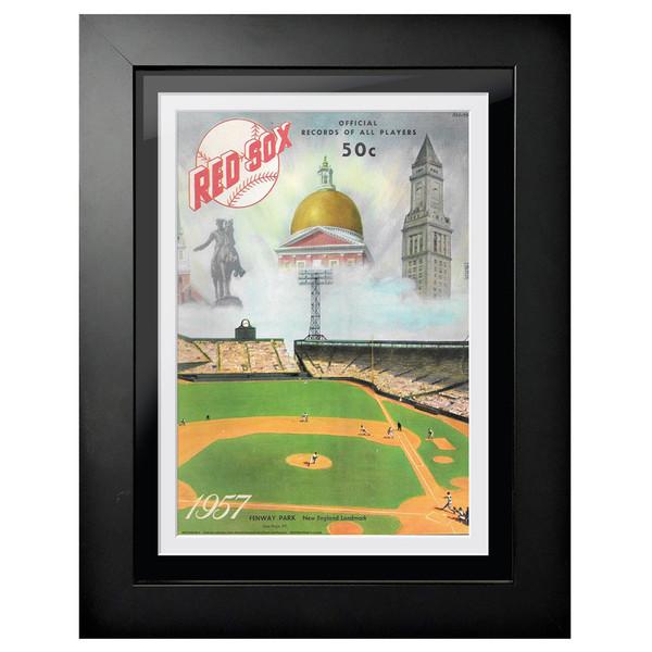 Boston Red Sox 1957 Scorecard Cover 18 x 14 Framed Print
