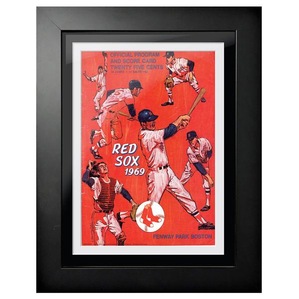 Boston Red Sox 1969 Scorecard Cover 18 x 14 Framed Print