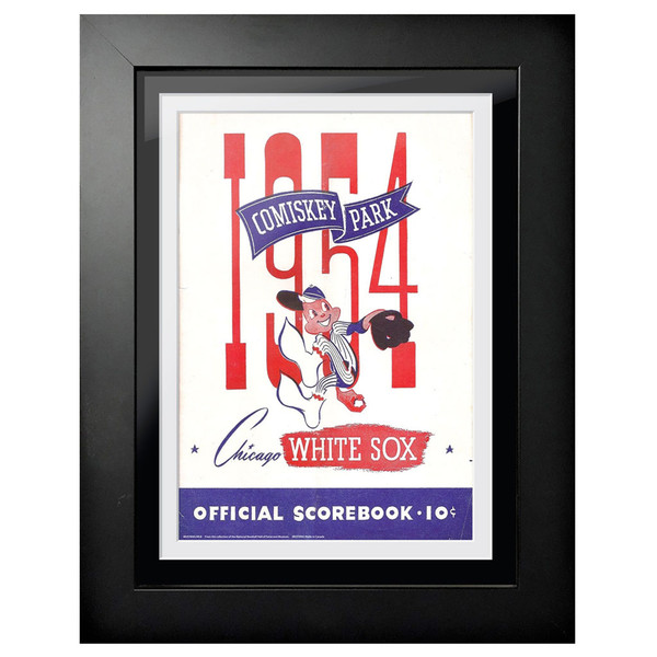 Chicago White Sox 1954 Scorecard Cover 18 x 14 Framed Print