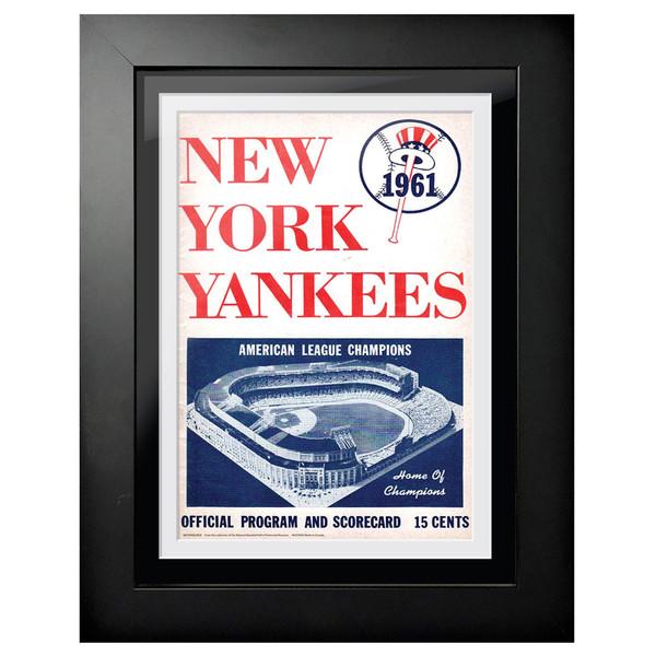 New York Yankees 1961 Scorecard Cover 18 x 14 Framed Print