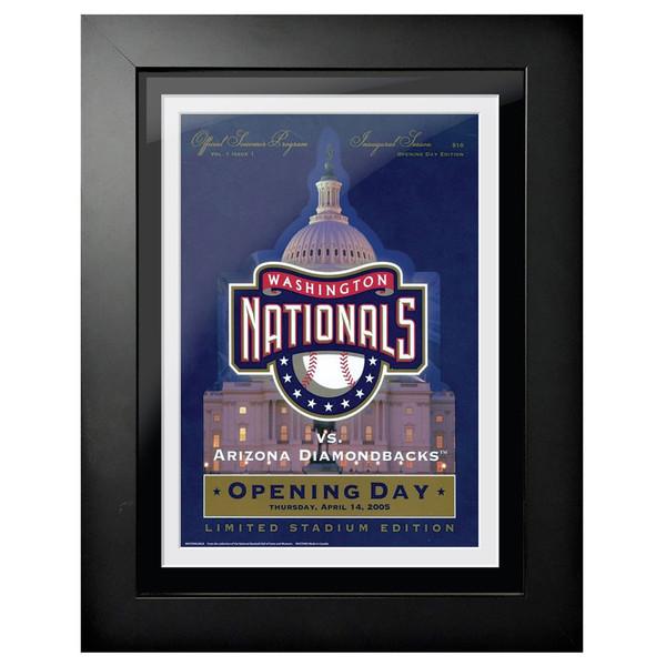 Washington Nationals 2005 Scorecard Cover 18 x 14 Framed Print