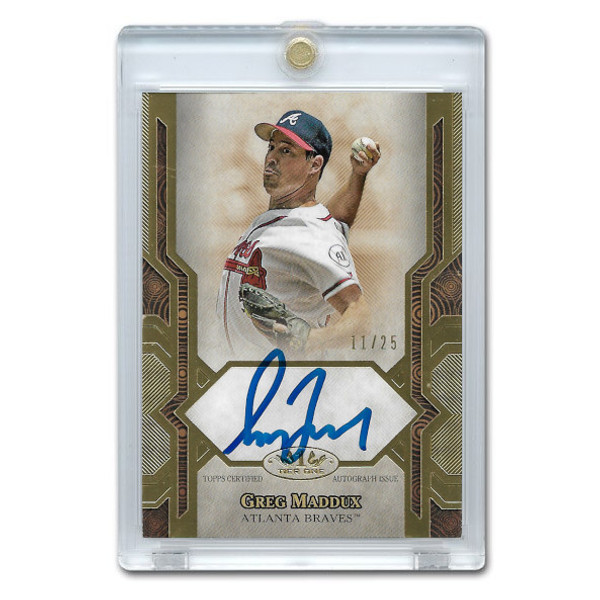 Greg Maddux Autographed Card 2021 Topps Tier One Next Level Ltd Ed of 25