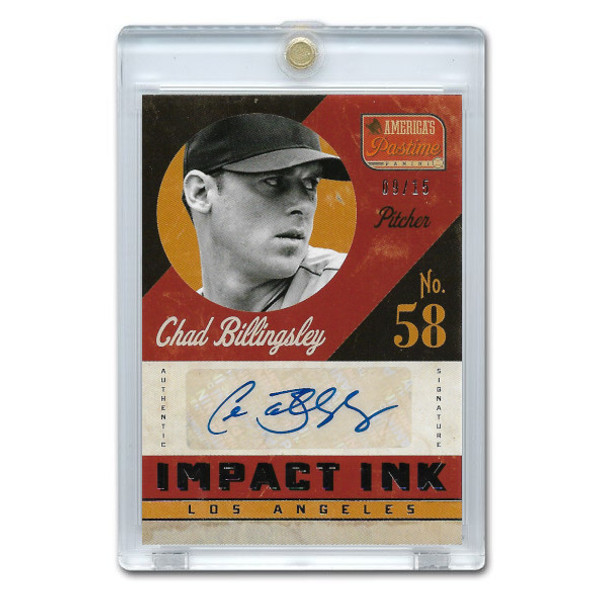 Chad Billingsley Autographed Card 2013 America's Pastime Signatures Impct Ink Ltd Ed of 25