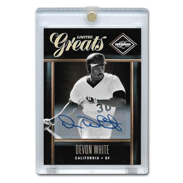 Devon White Autographed Card 2011 Leaf Limited Greats Ltd Ed of 499