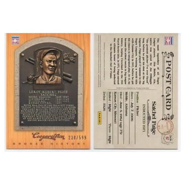 Satchel Paige 2012 Panini Cooperstown Bronze History Baseball Card Ltd Ed of 599