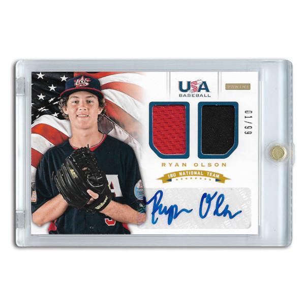 Ryan Olson Autographed Card 2012 Panini USA Baseball # 15 Ltd Ed of 99
