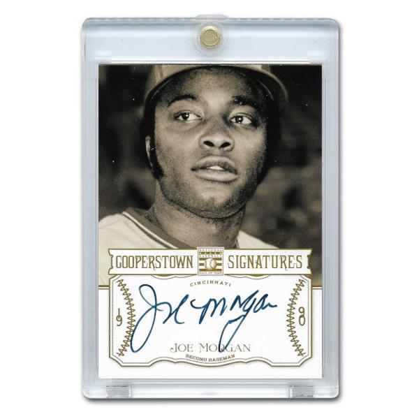 Joe Morgan Autographed Card 2013 Panini Cooperstown Signatures Ltd Ed of 120
