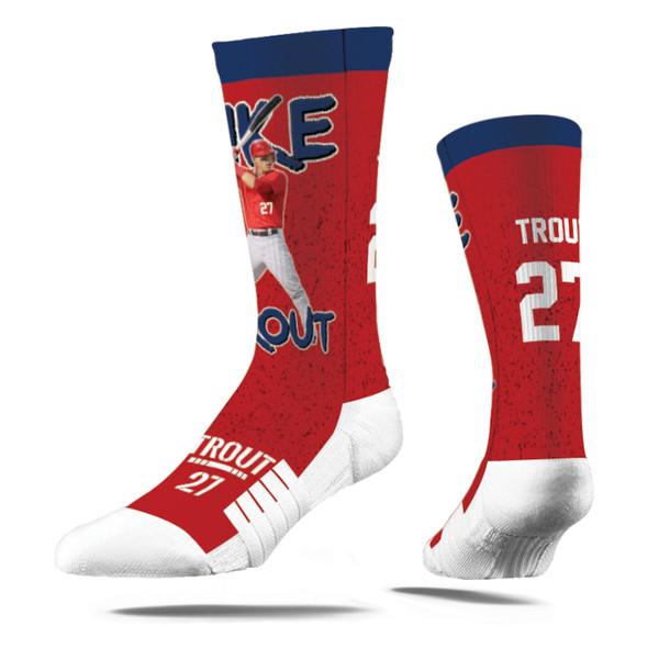 Strideline Mike Trout Full Image Premium Crew Socks