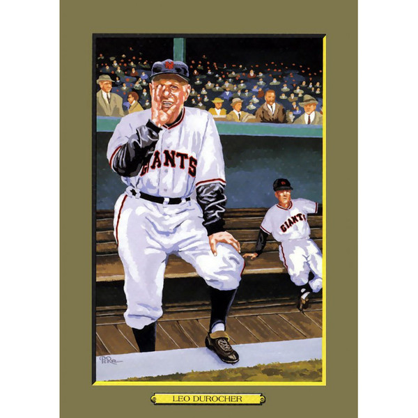 Leo Durocher Perez-Steele Hall of Fame Great Moments Limited Edition Jumbo Postcard # 103