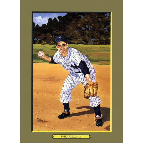 Phil Rizzuto Perez-Steele Hall of Fame Great Moments Limited Edition Jumbo Postcard # 106