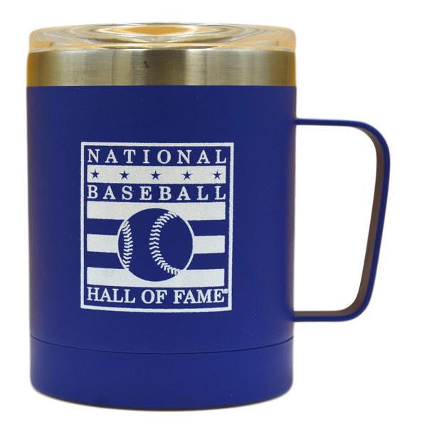 Baseball Hall of Fame Blue Stainless Steel Travel Mug