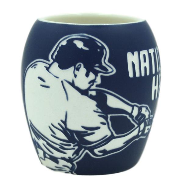 Baseball Hall of Fame Etched Batter Shot Glass