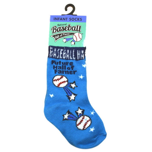 Infant Baseball Hall of Fame Future Hall of Famer Blue Socks