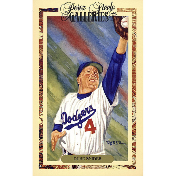 Duke Snider Perez-Steele Masterworks Limited Edition Postcard # 20
