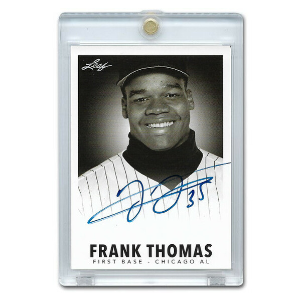 Frank Thomas Autographed Card 2013 Leaf Industry Summit # FT1