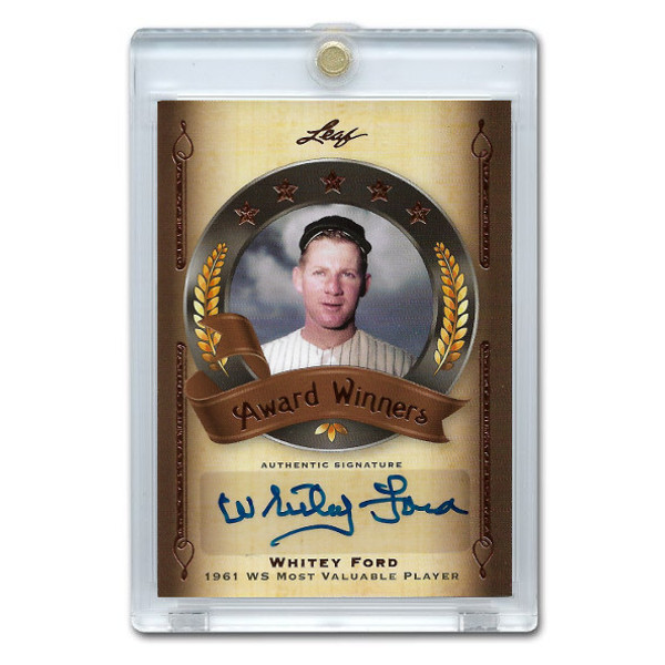 Whitey Ford Autographed Card 2011 Leaf Legends of Sports Ltd Ed of 31